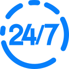 Available 24h / 7 days icon